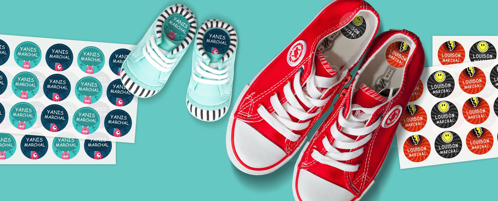 étiquette chaussures autocollante